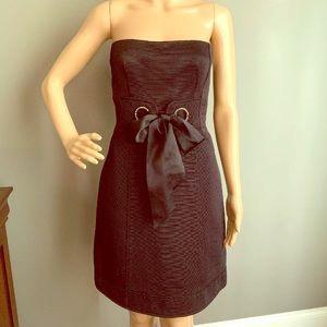Nanette Lepore Black Corset Short Cocktail Dress 8